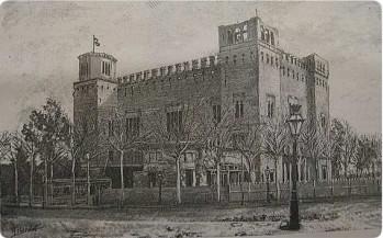 """El """"castell dels tres dragons"""", a l'abril de 1888"""