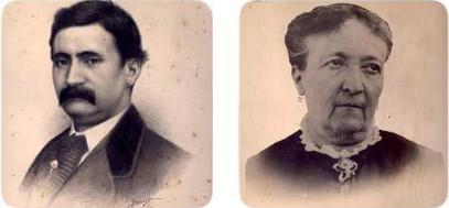 Pere Domènech i Saló i Maria Montaner Vila, pares de Lluís Domènech i Montaner